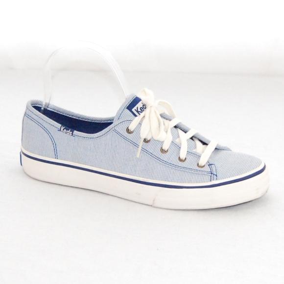 Keds Shoes   Keds Blue White Stripe Low